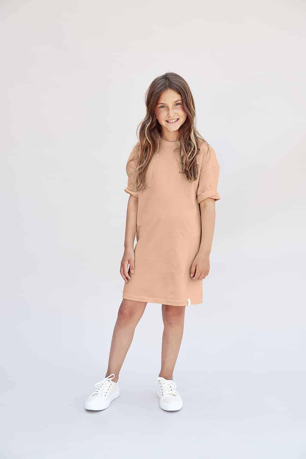 pink roze jurk biio katoen